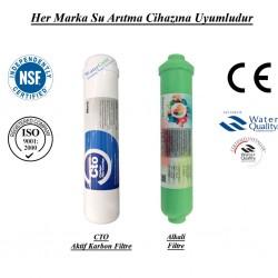 Su Arıtma CTO Aktif Karbon, Alkali Filtre Seti