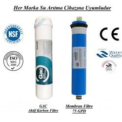 Su Arıtma GAC Aktif Karbon, Membran Filtre Seti