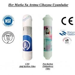 Su Arıtma CTO Aktif Karbon,  Post Karbon Tatlandırıcı Filtre Seti