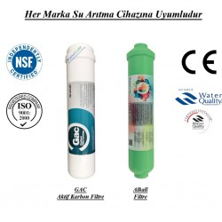 Su Arıtma GAC Aktif Karbon, Mineral Filtre Seti