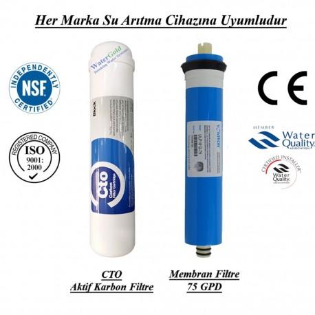 Su Arıtma Koku ve Tat İyileştirici GAC Aktif Karbon, Membran Filtre Seti