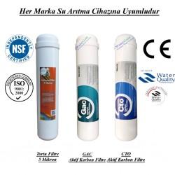 Su Arıtma 5 Mikron, GAC ve  CTO Aktif Karbon Filtre Seti