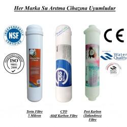 Su Arıtma 5 Mikron, CTO Karbon ve Post Karbon Filtre Seti
