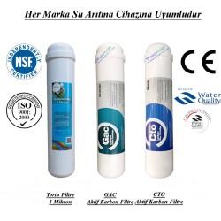 Su Arıtma 1 Mikron, GAC ve CTO Aktif Karbon Filtre Seti