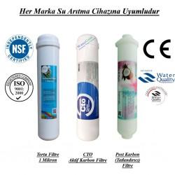 Su Arıtma 1 Mikron, CTO Aktif Karbon ve Post Karbon Filtre Seti