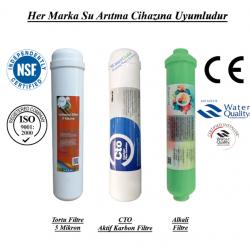 Su Arıtma 5 Mikron, CTO Aktif Karbon ve Alkali Filtre Seti