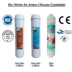 Su Arıtma 5 Mikron, 1 Mikron ve Detox Filtre Seti