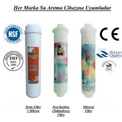 Su Arıtma 5 Mikron, Post Karbon ve Mineral Filtre Seti