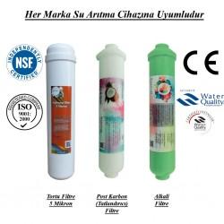 Su Arıtma 5 Mikron, Post Karbon ve Alkali Filtre Seti