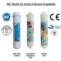Su Arıtma 1 Mikron, Post Karbon ve Mineral Filtre Seti