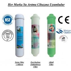 Su Arıtma 1 Mikron, Post Karbon ve Alkali Filtre Seti