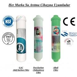 Su Arıtma GAC Aktif Karbon, Post Karbon ve Alkali Filtre Seti