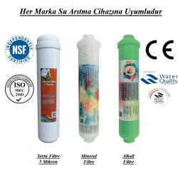 Su Arıtma 5 Mikron, Mineral Filtre ve Alkali Filtre Seti