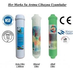 Su Arıtma 1 Mikron, Mineral ve Alkali Filtre Seti