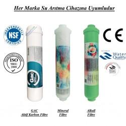 Su Arıtma GAC Aktif Karbon,  Mineral ve Alkali Filtre Seti