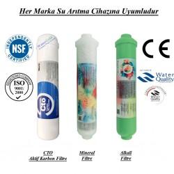 Su Arıtma CTO Aktif Karbon, Mineral ve Alkali Filtre Seti