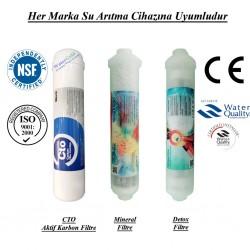 Su Arıtma CTO Aktif Karbon,  Mineral ve Detox Filtre Seti