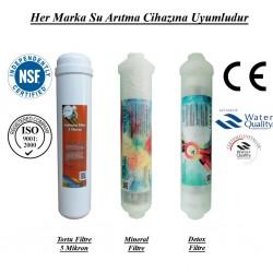 Su Arıtma 5 Mikron, Alkali ve Detox Filtre Seti