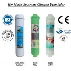 Su Arıtma 1 Mikron, Alkali ve Detox Filtre Seti