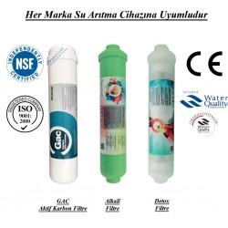 Su Arıtma GAC Aktif Karbon, Alkali ve Detox Filtre Seti