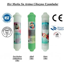 Su Arıtma Post Karbon, Alkali ve Detox Filtre Seti