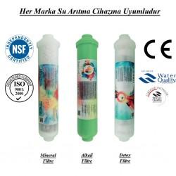 Su Arıtma Mineral, Alkali ve Detox Filtre Seti