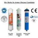 Su Arıtma 5 Mikron, Post Karbon ve Membran Filtre Seti