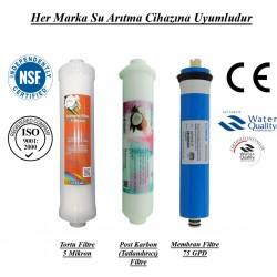Su Arıtma 5 Mikron,  Mineral ve Membran Filtre Seti
