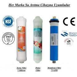 Su Arıtma 5 Mikron, Detox ve Membran Filtre Seti
