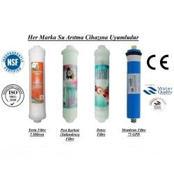 Su Arıtma  5 Mikron, Post Karbon, Detox ve Membran Filtre Seti