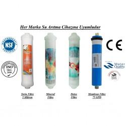 Su Arıtma 5 Mikron, Mineral, Detox ve Membran Filtre Seti