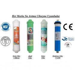 Su Arıtma 5 Mikron, Alkali, Detox ve Membran Filtre Seti