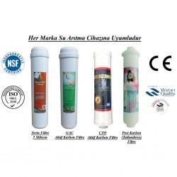 Su Arıtma 5 Mikron, GAC, CTO ve Post Karbon Filtre Seti