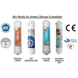 Su Arıtma 5 Mikron, GAC, 1Mikron ve Post Karbon Filtre