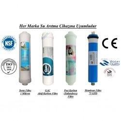 Su Arıtma 1 Mikron, GAC, Post Karbon ve Membran Filtre Seti
