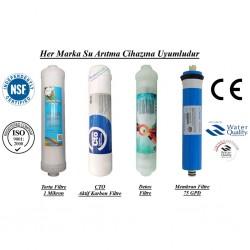 1 Mikron,  CTO Aktif Karbon, Alkali ve Membran Filtre Seti