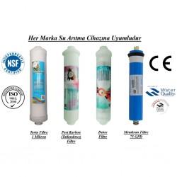 Su Arıtma 1 Mikron, Post Karbon, Detox ve Membran Filtre Seti