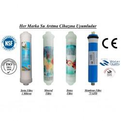 Su Arıtma 1 Mikron, Mineral, Detox ve Membran Filtre Seti