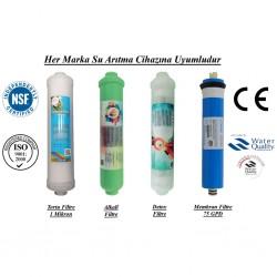 Su Arıtma 1 Mikron, Alkali, Detox ve Membran Filtre Seti