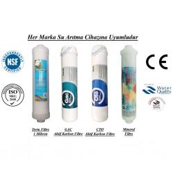 Su Arıtma 1 Mikron, GAC, CTO ve Mineral Filtre Seti
