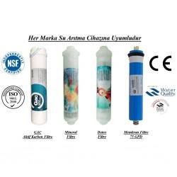 Su Arıtma GAC, Mineral, Detox  ve Membran Filtre Seti