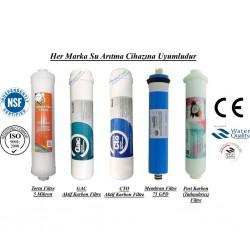 Su Arıtma 5 Mikron, GAC, CTO, Membran ve Post Karbon Filtre Seti