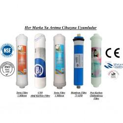 Su Arıtma 5 Mikron, CTO, 1 Mikron, Membran ve Post Karbon Filtre Seti