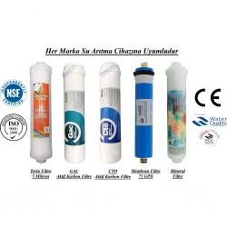 Su Arıtma 5 Mikron, GAC, CTO, Membran ve Mineral Filtre Seti