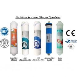 Su Arıtma 5 Mikron, GAC, CTO, Membran ve Detox Filtre Seti