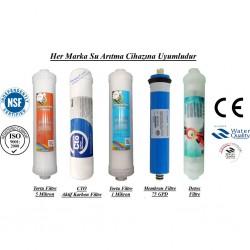 Su Arıtma 5 Mikron, CTO, 1 Mikron, Membran ve Detox Filtre Seti