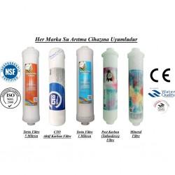 Su Arıtma 5 Mikron, CTO, 1 Mikron, Post Karbon ve Mineral Filtre Seti