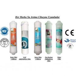 Su Arıtma 5 Mikron, GAC, 1 Mikron, Post Karbon ve Detox Filtre Seti
