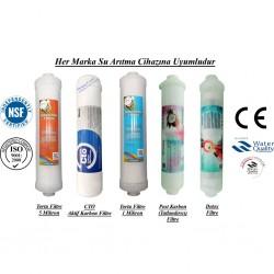 Su Arıtma 5 Mikron, CTO, 1 Mikron, Post Karbon ve Detox Filtre Seti