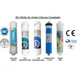 Su Arıtma 1Mikron, GAC, CTO, Membran ve Mineral Filtre Seti